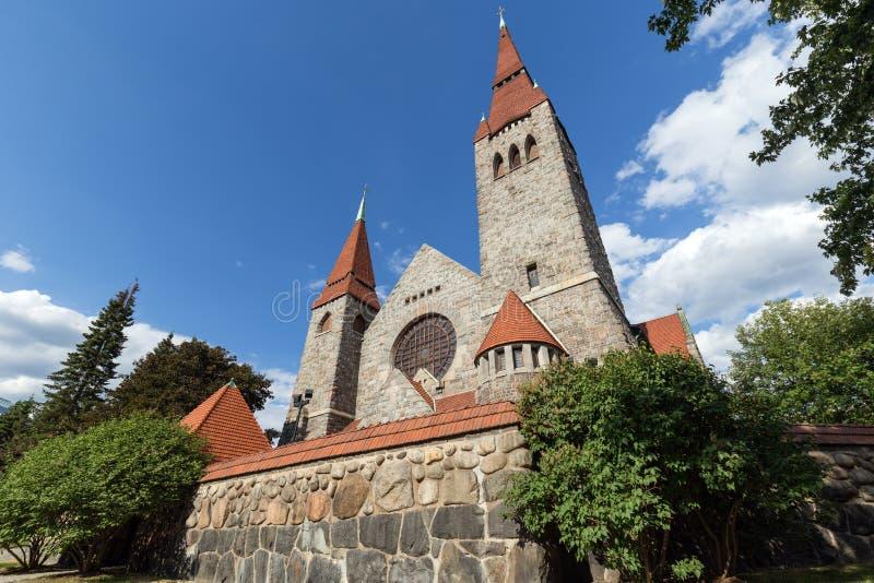 De Kathedraal van Tampere in Tampere, Finland royalty-vrije stock fotografie