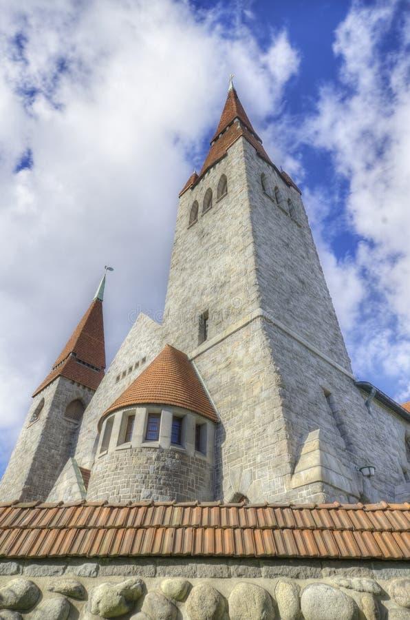 De kathedraal van Tampere, Finland royalty-vrije stock foto's