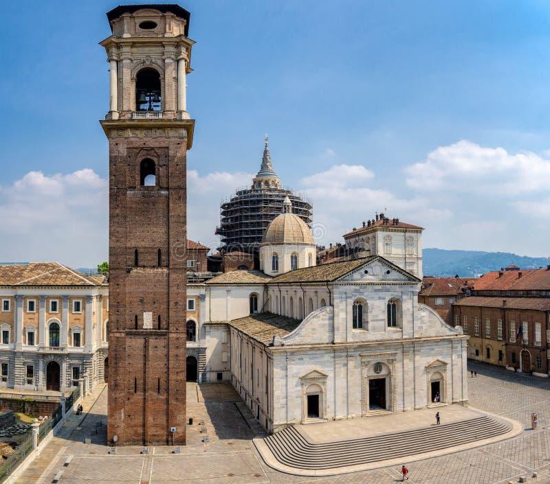 De Kathedraal & x28 van Turijn; Duomo Di Torino& x29; royalty-vrije stock afbeelding