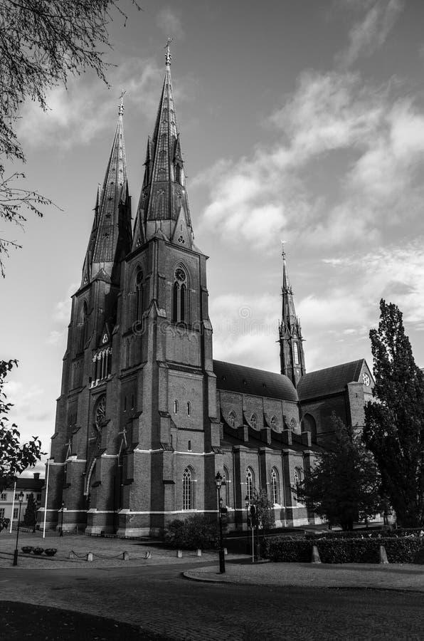 De kathedraal van Uppsala stock fotografie
