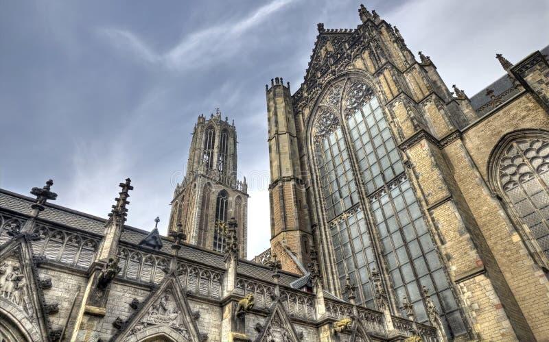 De Kathedraal van Utrecht, Holland royalty-vrije stock afbeelding