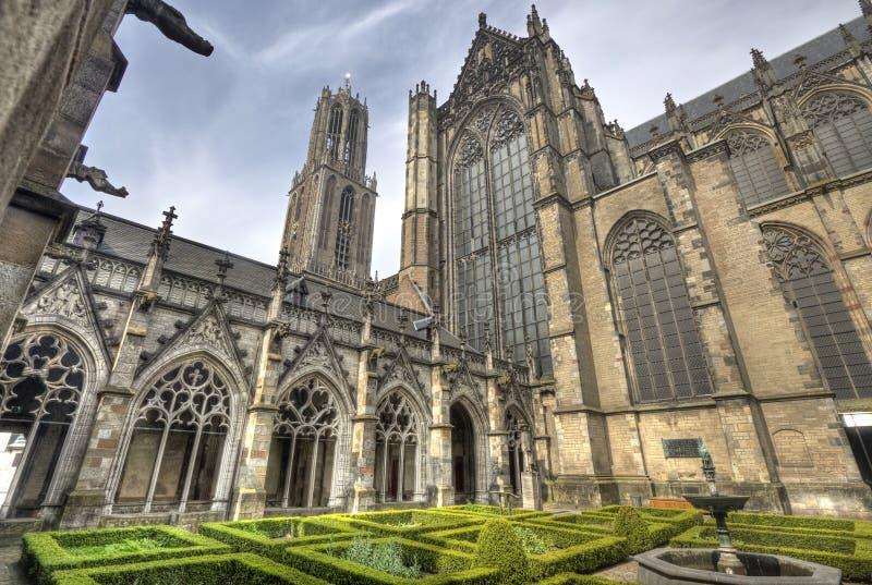 De Kathedraal van Utrecht, Holland stock afbeeldingen