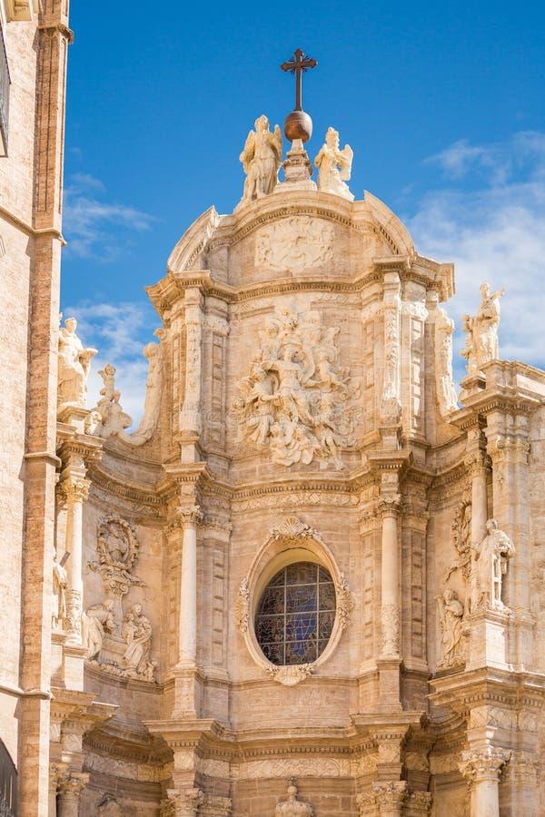 De kathedraal van Valencia - Puerta DE los Hierros - een Deel van de Metropolitaanse Kathedraal stock fotografie