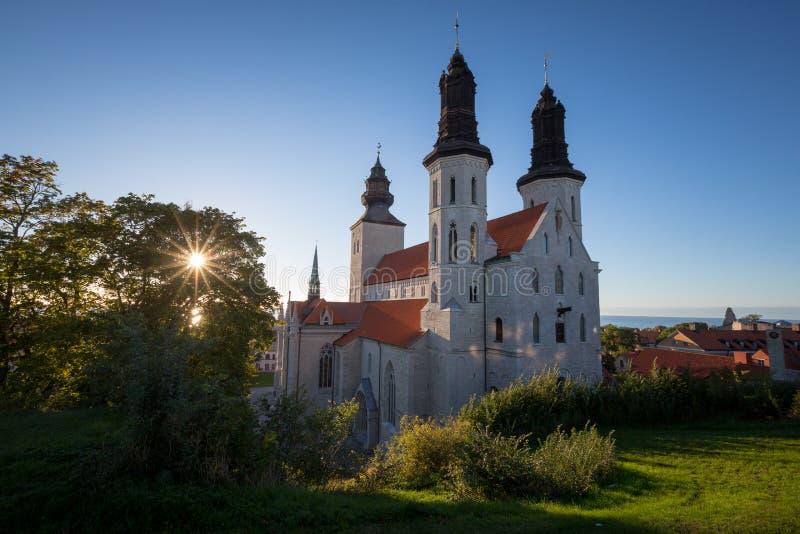 De kathedraal van Visby royalty-vrije stock fotografie