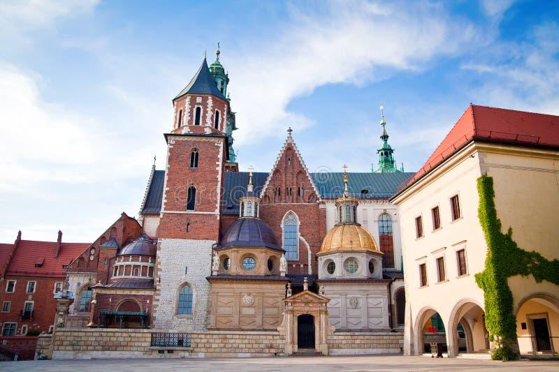 De Kathedraal van Wawel in Krakau royalty-vrije stock fotografie