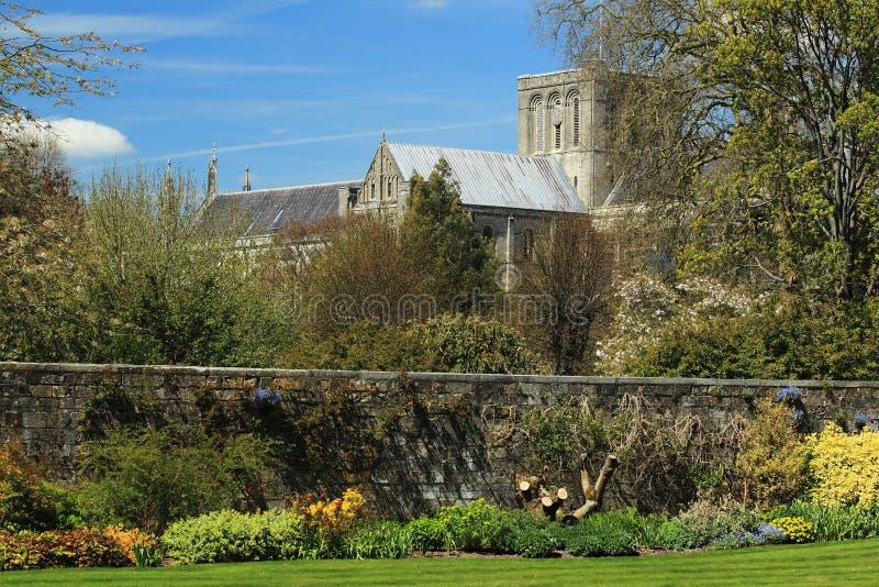 De kathedraal van Winchester stock afbeeldingen