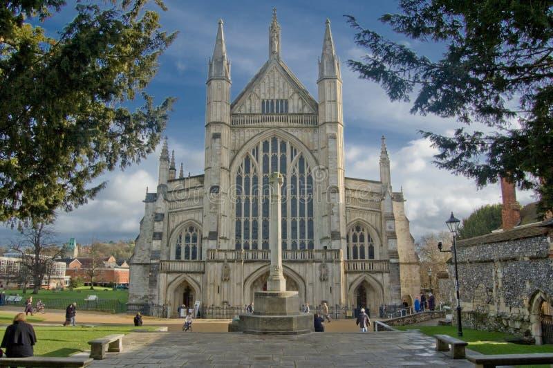De Kathedraal van Winchester stock foto's