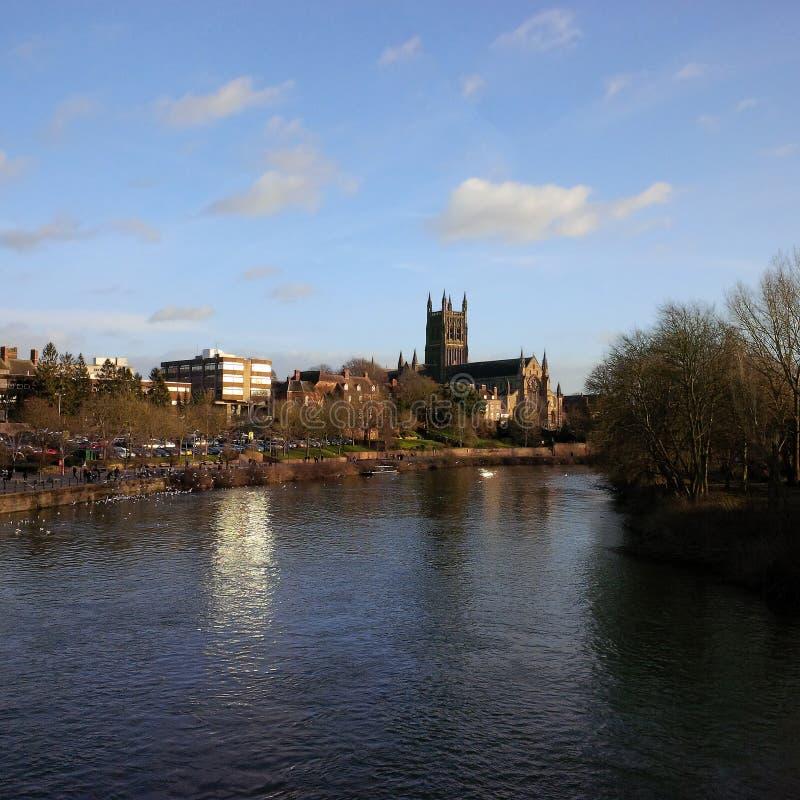 De Kathedraal van Worcester royalty-vrije stock afbeelding