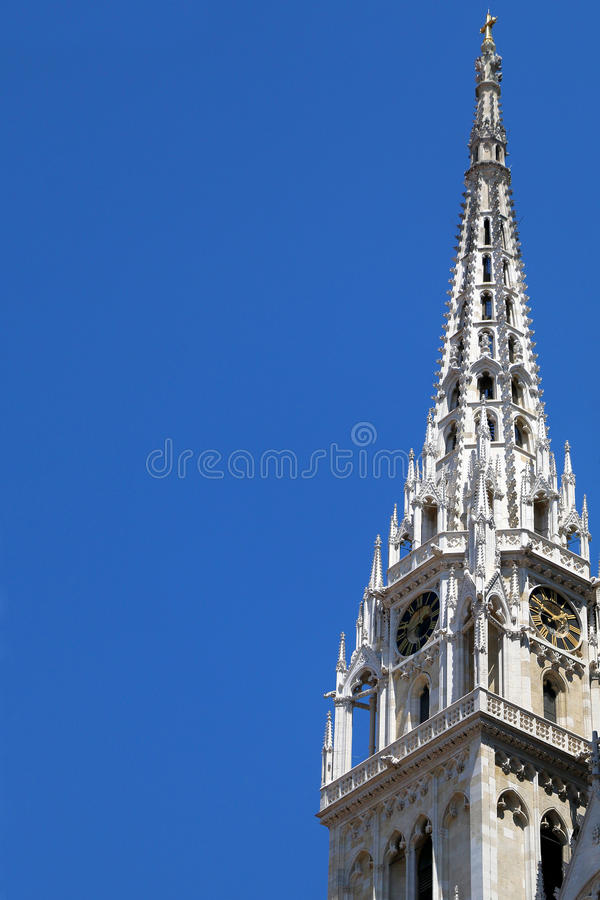 De kathedraal van Zagreb stock afbeelding