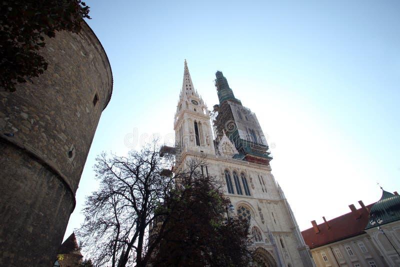 De kathedraal van Zagreb royalty-vrije stock fotografie