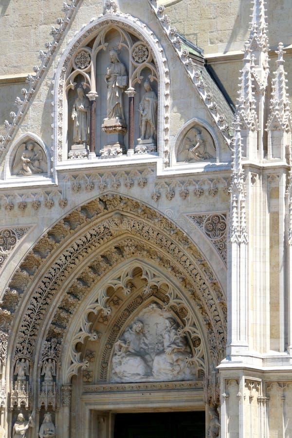 De kathedraal van Zagreb stock afbeeldingen