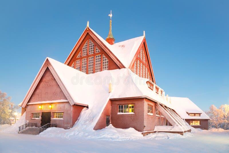 De kathedraal Zweden van Kiruna stock foto