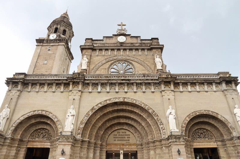 De Kathedraalbasiliek van Manilla royalty-vrije stock foto's