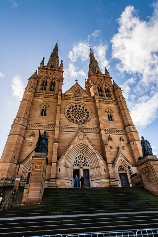 De Kathedraalkerk en de Minder belangrijke Basiliek van de Vlekkeloze Moeder van God, Hulp van Christenen, Sydney stock foto's