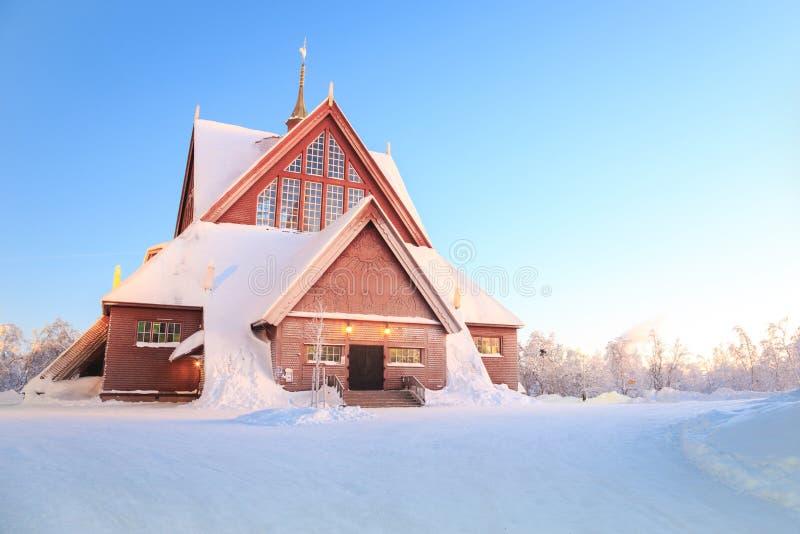 De kathedraalkerk Zweden van Kiruna stock fotografie