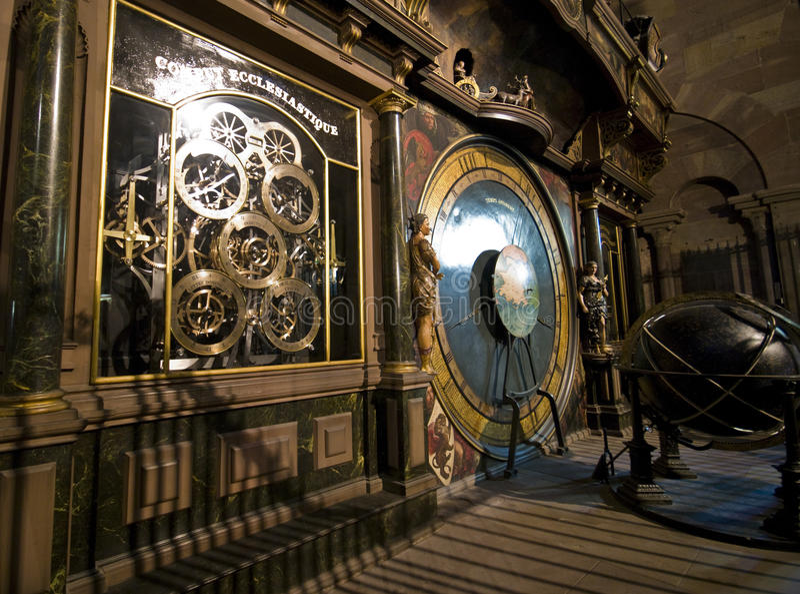 De kathedraalklok van Lyon royalty-vrije stock foto