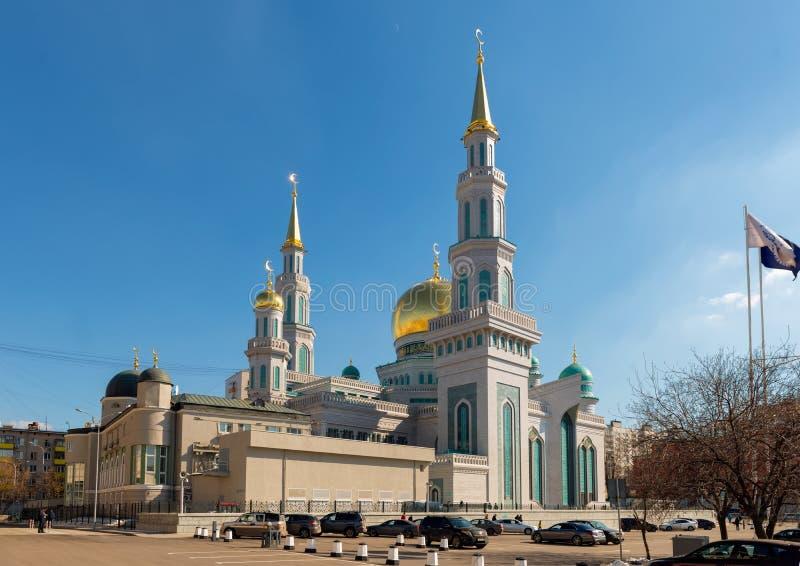 De Kathedraalmoskee van Moskou stock afbeelding