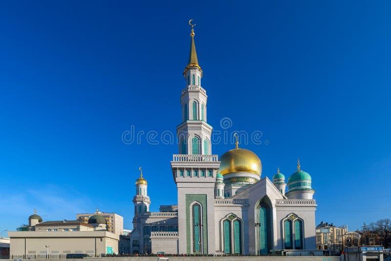 De Kathedraalmoskee van Moskou in de zonnige dag Architectuur, islam stock afbeelding