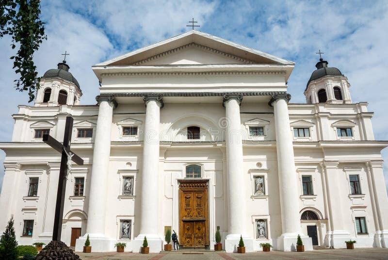 De Katholieke Kathedraal van de Veronderstelling van Maagdelijke Mary en St Stanislaus in Mogilev wit-rusland stock afbeeldingen