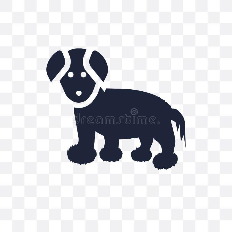 De katoenen hond transparant pictogram van DE Tulear De katoenen hondsymbool van DE Tulear stock illustratie