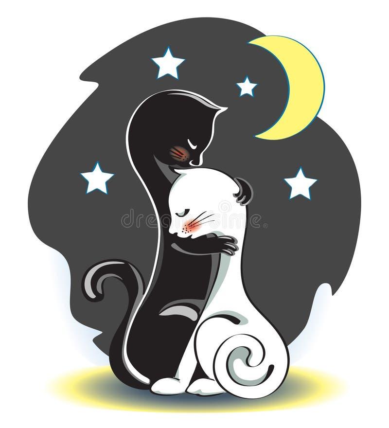 De katten stock illustratie