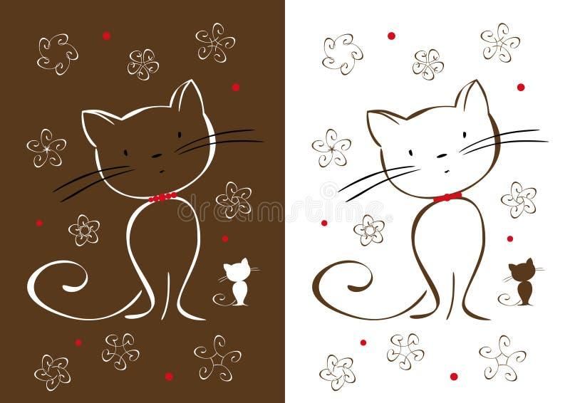 De katten van de tekening vector illustratie