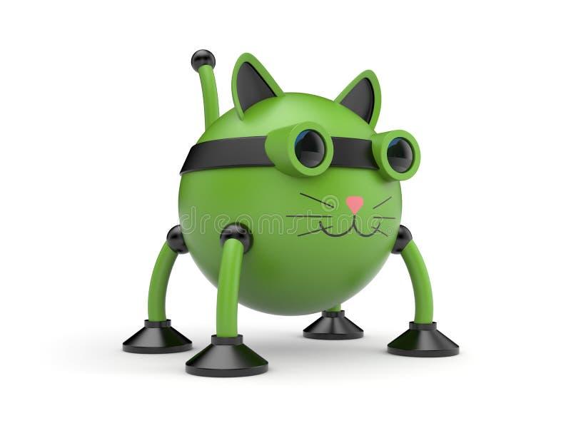 De kattenrobot stock illustratie