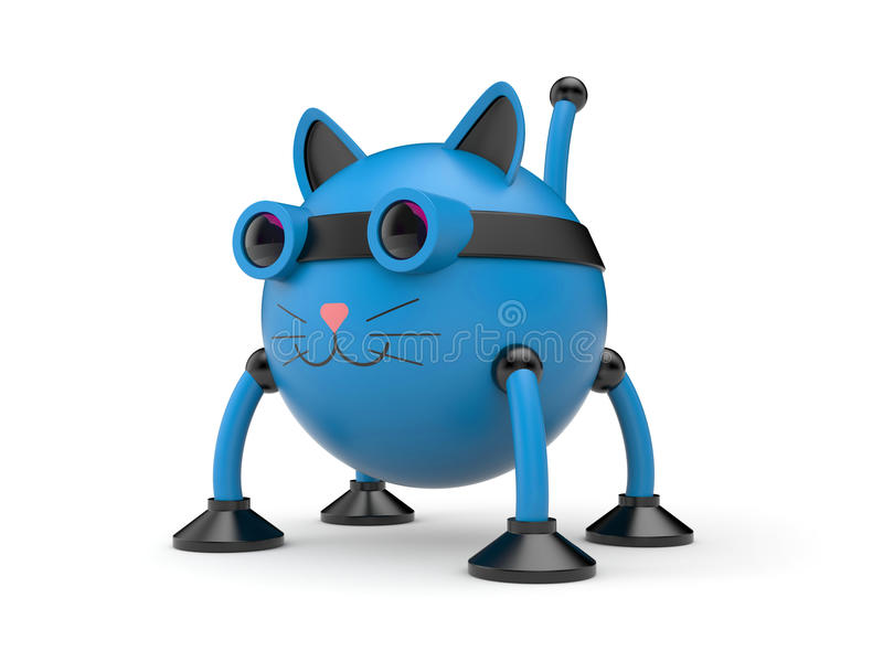 De kattenrobot royalty-vrije illustratie