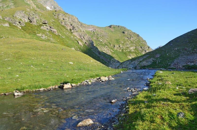 De Kaukasische biosfeerreserve, bron van de rivier Imeretinka royalty-vrije stock fotografie