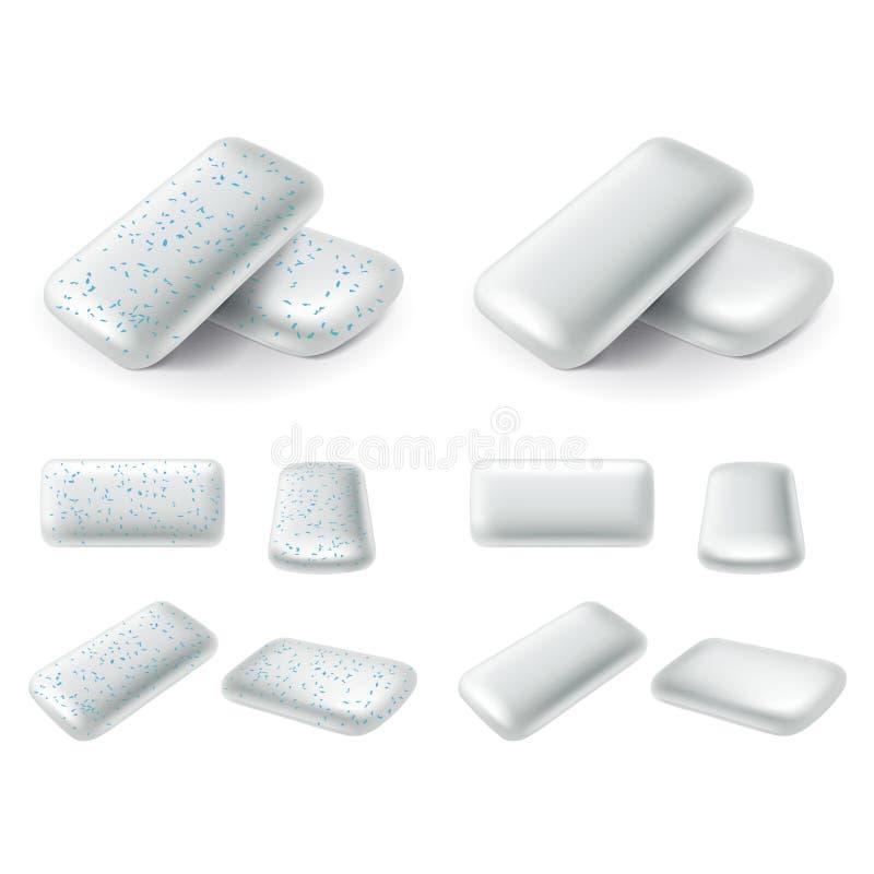 De kauwgom vult 3d realistische vectorreeks op stock illustratie