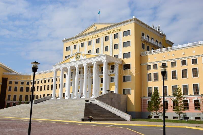 De Kazakh Universiteit van de Staat van Wet in Astana royalty-vrije stock afbeelding