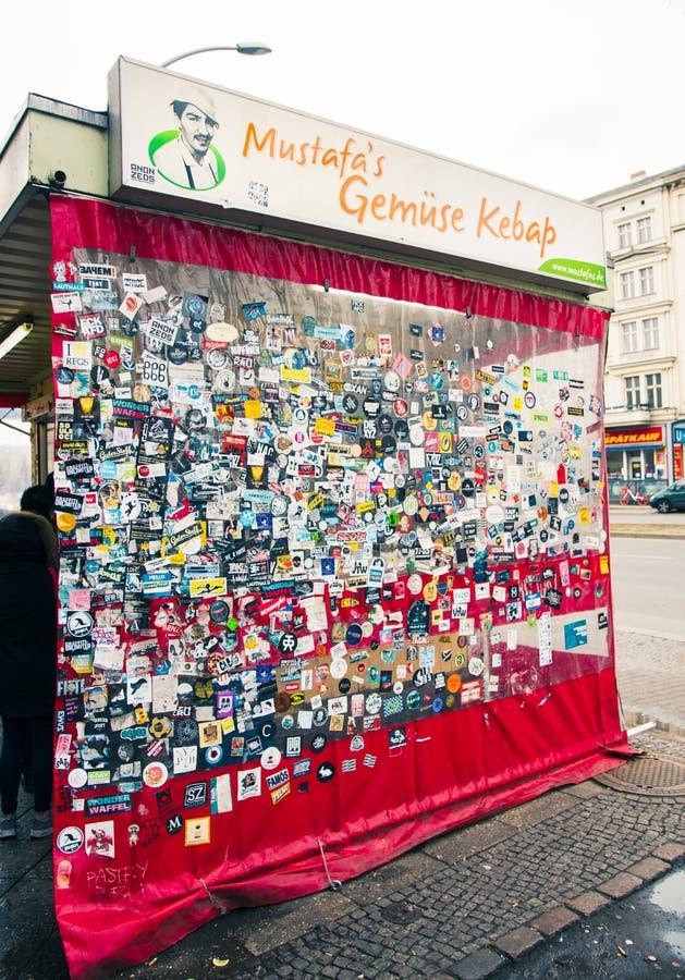 De Kebab van Gemuese van Mustafa in Berlijn royalty-vrije stock fotografie