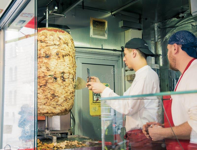 De Kebab van Gemuese van Mustafa in Berlijn royalty-vrije stock afbeelding