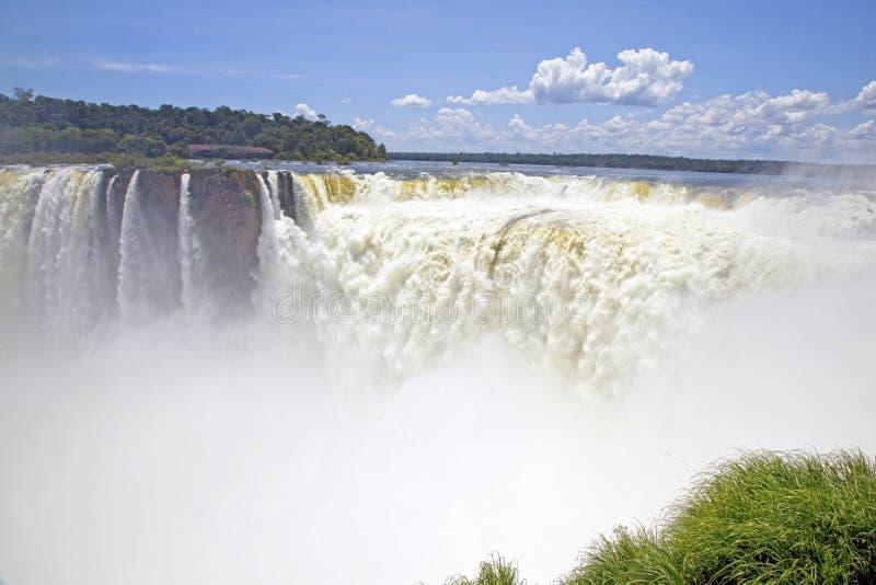 De Keel van de duivel, Iguazu-dalingen, Argentinië, Zuid-Amerika stock foto's