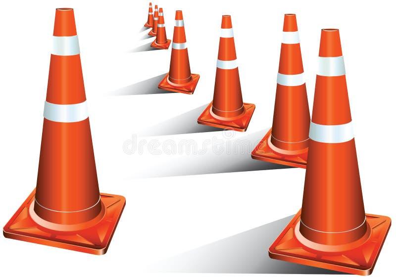 De kegel van het verkeer stock illustratie