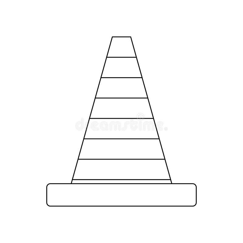 de kegelpictogram van de kleurenweg Element van bouwhulpmiddelen voor mobiel concept en webtoepassingenpictogram Overzicht, dun l vector illustratie