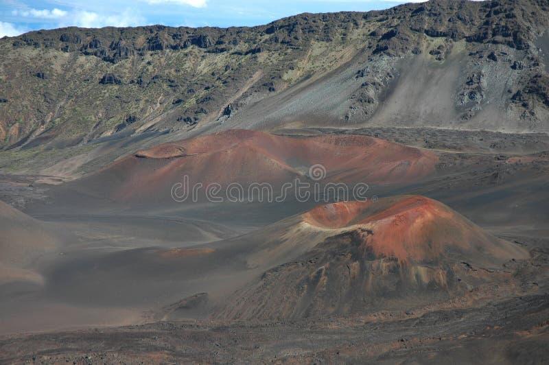 De Kegels van de Sintel van Haleakala, Maui royalty-vrije stock foto