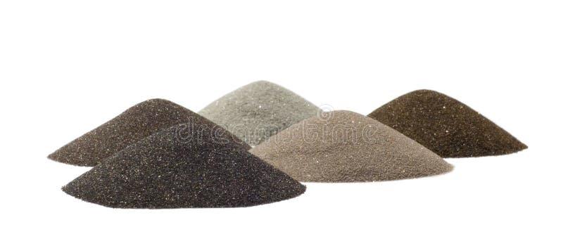 De kegels van het zand - mineralen van mijnbouw stock fotografie