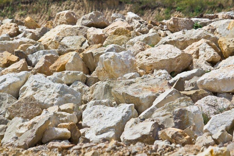 De keien van het kalksteen royalty-vrije stock foto's