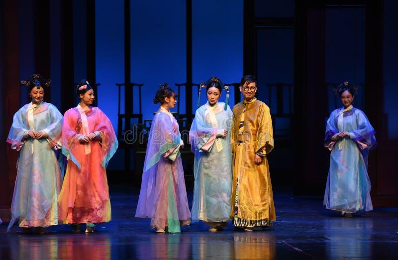 De keizer en zijn concubines-opent de eerste handeling-moderne dramakeizerinnen in het Paleis stock foto's