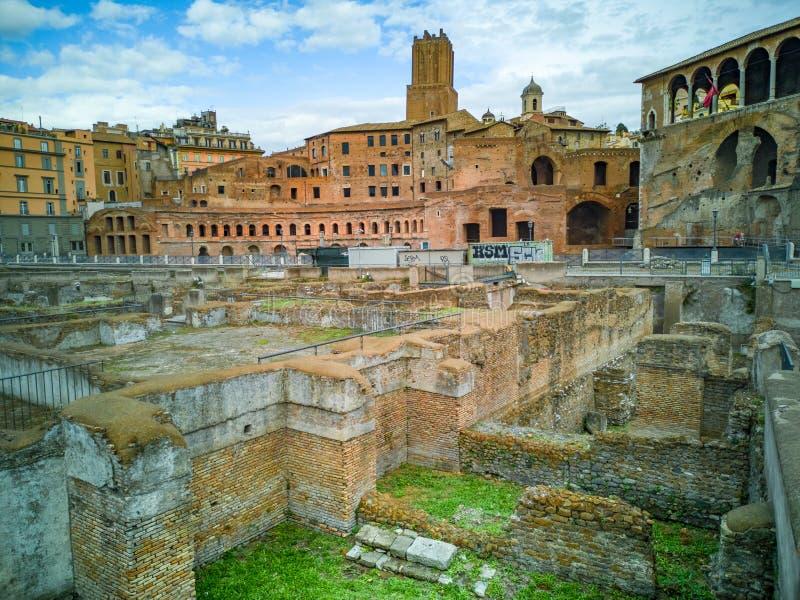 De Keizerforums Fori Imperiali in Italiaans, het monumentaal voor a royalty-vrije stock foto's