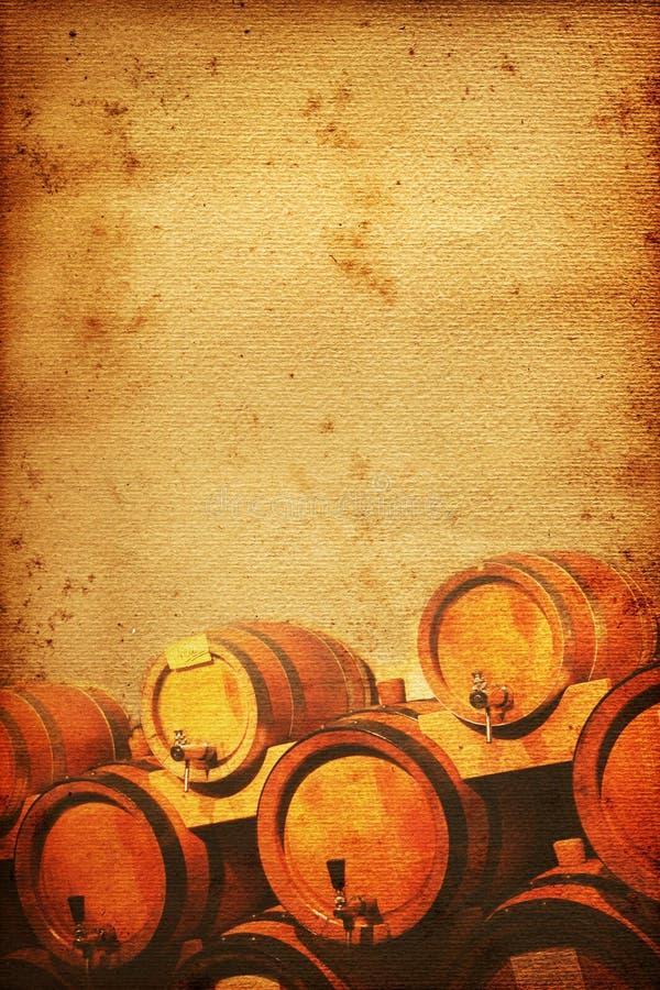 De kelder van de wijn royalty-vrije illustratie