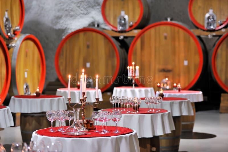 De kelderviering van de wijn royalty-vrije stock afbeelding