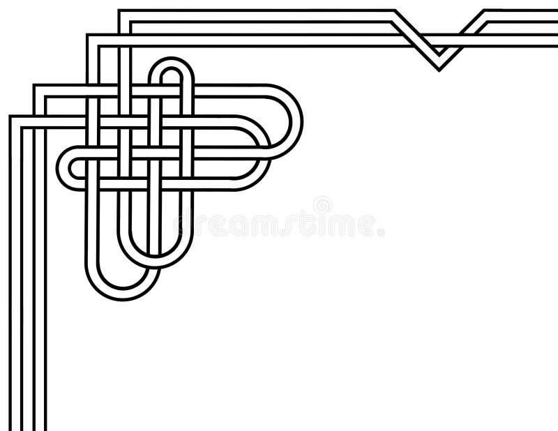 De Keltische grens die van de knooppagina een thema van de hartvorm gebruiken royalty-vrije stock afbeeldingen