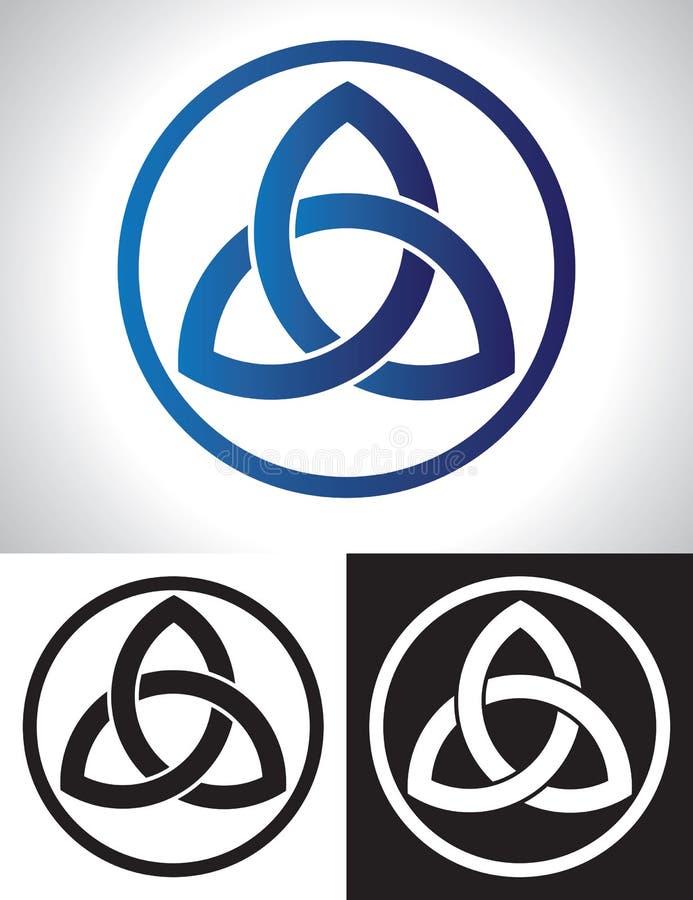De Keltische Vector van de Knoop van de Drievuldigheid vector illustratie