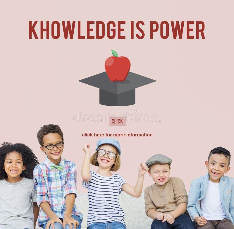 De kennis is de Graduatie Succesvol Concept van het Machtsonderwijs royalty-vrije stock afbeeldingen