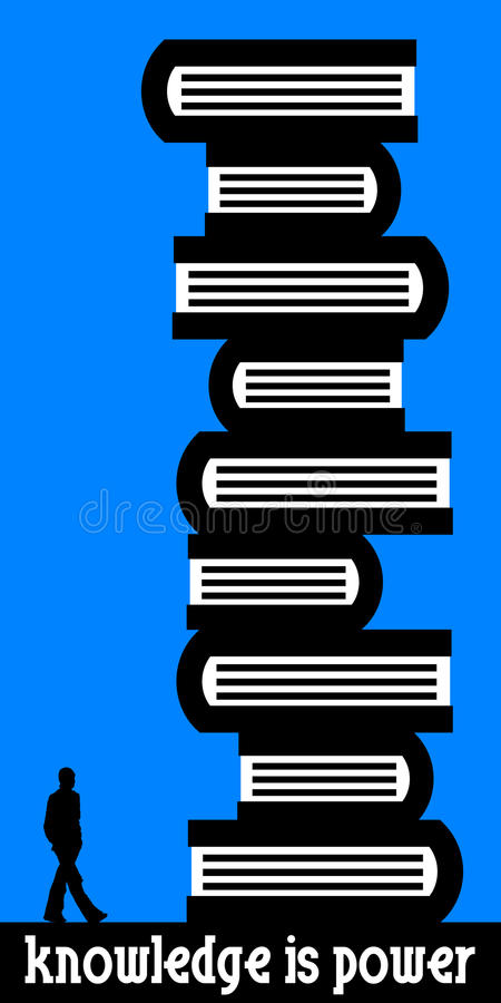 De kennis is macht vector illustratie