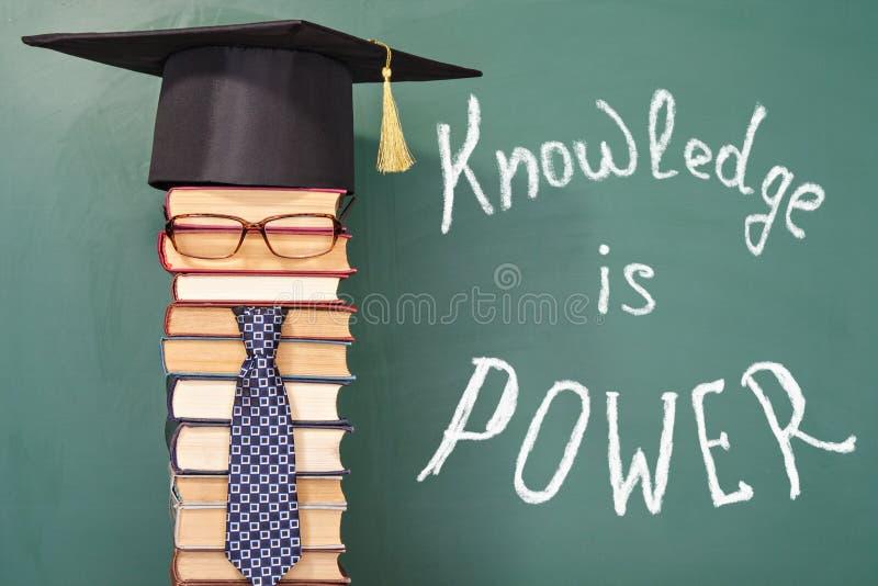 De kennis is macht stock afbeelding