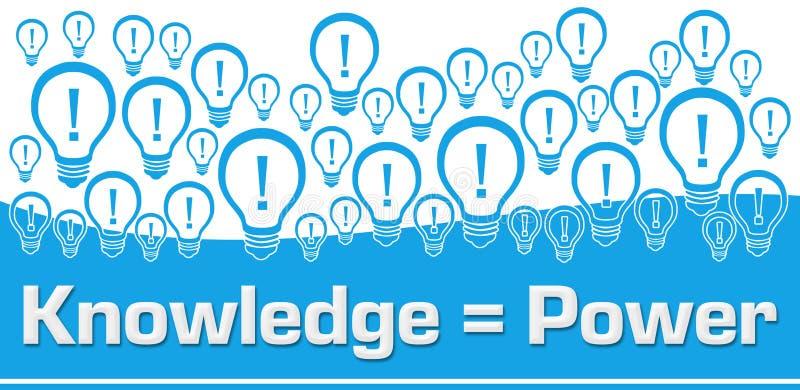 De kennis is Machts Blauwe Bollen Als achtergrond op Bovenkant royalty-vrije illustratie
