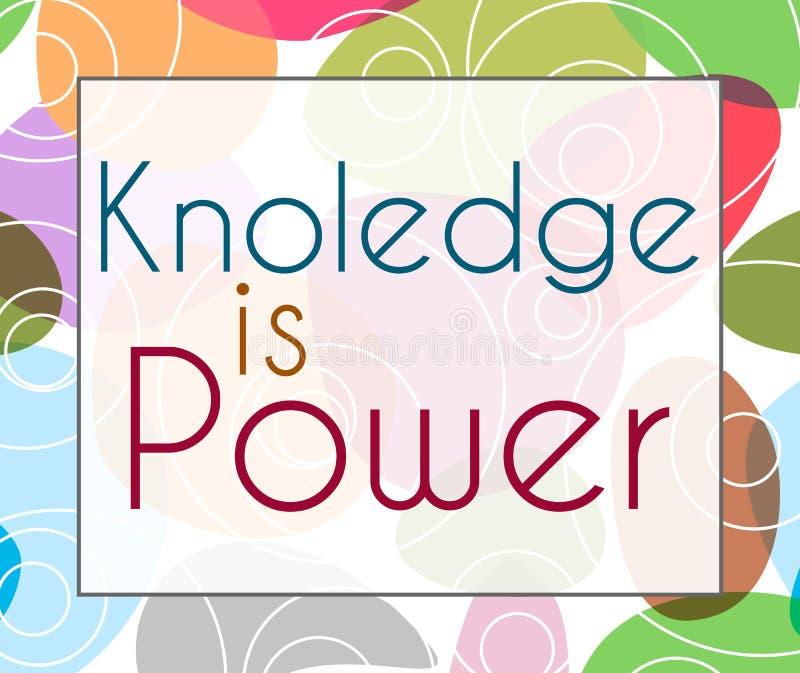 De kennis is Machts Kleurrijke Achtergrond royalty-vrije illustratie